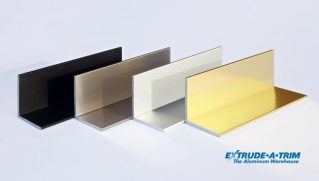 We have angles in bright black, anodized, brushed stainless steel, bright gold and many more finishes